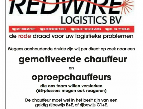 Red Wire Logistics BV Vacature